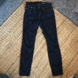 J Crew Toothpick Ankle Dark Midrise Jeans 26